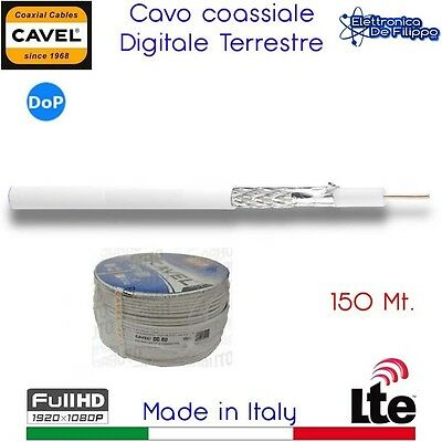 Bobina Cavo Coassiale Digitale Terrestre 150 mt. CAVEL DG80 LTE FULL HD