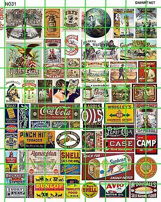 N031 Dave's Decals  N Scale Early 20Th Century Steam Era Advertising Signage