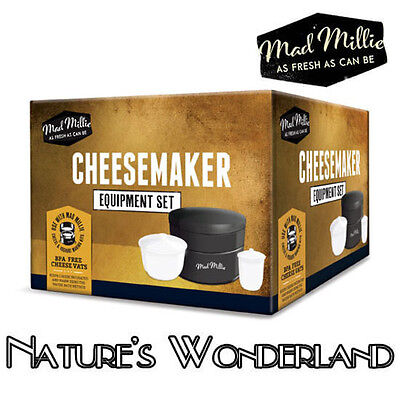 CHEESE MAKER - Kit incl Incubator, 4L Cheese Vat 1L Soft Cheese Vat - Mad Millie