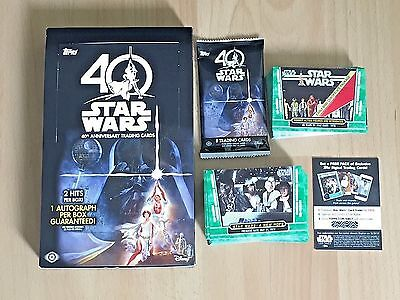 Topps Star Wars 40th Anniversary A New Hope GREEN Parallel Base Set + Wrapper