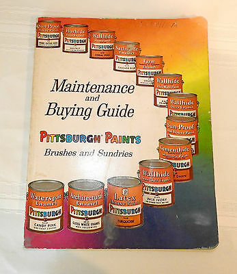 Vtg. Pittsburgh Paint Maintenance & Buying Guide PPG 1960 - Paint Samples