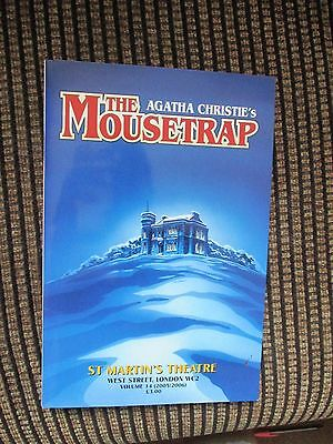 The Mousetrap Collectable St Martins Theatre Programme