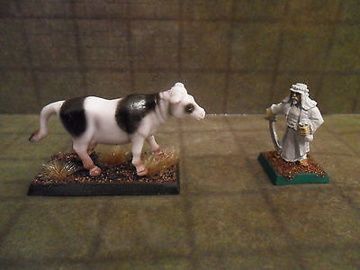 25mm / 28mm Painted Cow Animal. Pathfinder. Minees