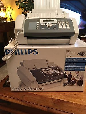 Phillips Fax Jet 525 Fax Machine, Telephone And Copier With 2 Cartridges