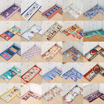 Cartoon Flannel Kitchen Carpet Floor Door Mat Barrier Mats 40*60CM 19 Patterns