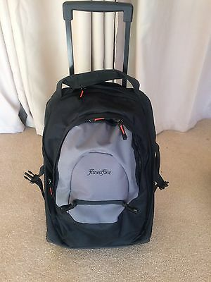 Fitness First Gym Bag NEW Travel Holiday Carry On Wheels Sports Outdoor NEW