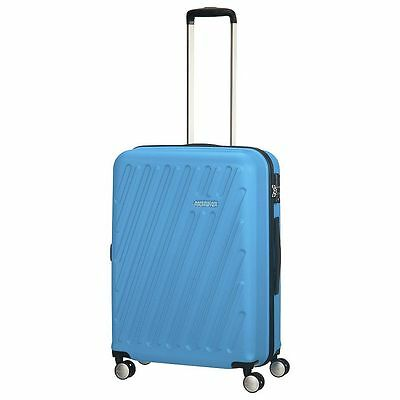 NEW American Tourister HyperCube 4 Wheel Medium Suitcase - Blue