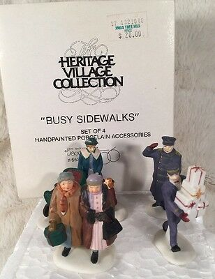 """Dept 56 Christmas In The City Heritage Village """"BUSY SIDEWALKS"""" #: 55352"""