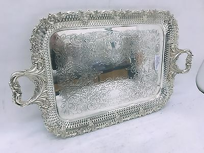 antico Vassoio in Sheffield circa 1890 antique tray