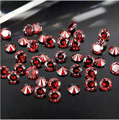 4000 1mm & 2mm Several packets of Loose Gemstone Garnet Cubic Zirconia Stone