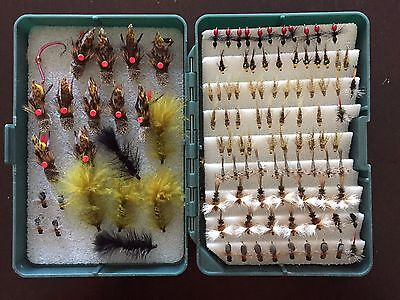 Fishing Flies, Dries & Nymphs in Good Box - BEST OFFER! Fished on a Powell rod!