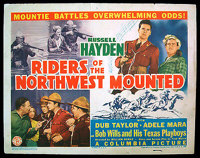 RIDERS OF THE NORTHWEST MOUNTED orig 1943 title card RCMP mountie SCARCE