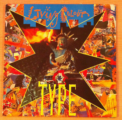 "LIVING COLOUR  "" Type ""  - Vinyl  12""  , Gatefold -  Epic ‎ LCL GT7  -  1990 UK"