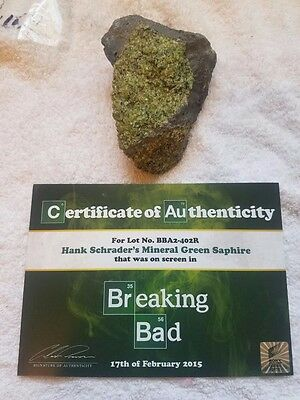 BREAKING BAD Hank Schrader Green Saphire Mineral Screen Used Prop with Sony COA