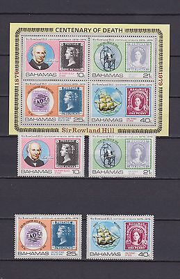s16779) BAHAMAS  MNH** Nuovi** 1979 Sir Rowland Hill 4v +s/s stamps on stamps