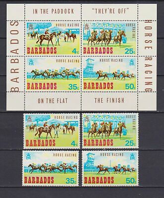 s16782) BARBADOS  MNH** Nuovi** 1969 Horse races 4v