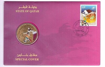 Qatar 2006 Special Cover Doha Asian Games Postage Stamp Arabia Orry Coin Fdc Gcc