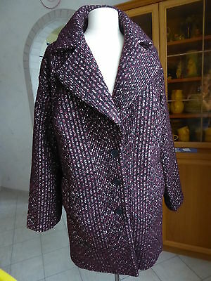 Winter Jacke Mantel Gr. 44 neu weinrot Boucle