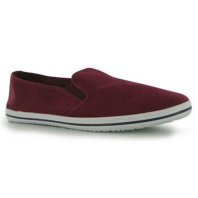 Slazenger Slip On Canvas Tai-Chi / Kung Fu Shoes - Burgundy
