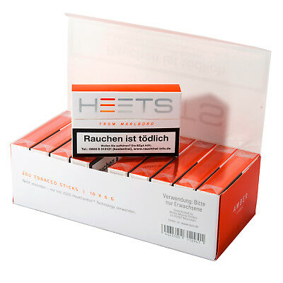 IQOS Tabak-Sticks Heets From Marlboro Amber Label für IQOS (200 Heets)