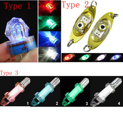5colors LED Deep Drop Underwater Diamond Flash Fish Light Squid Strobe Bait Lure