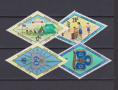 s16794) BARBADOS  MNH** Nuovi** 1978 Girl Guides 4v scout