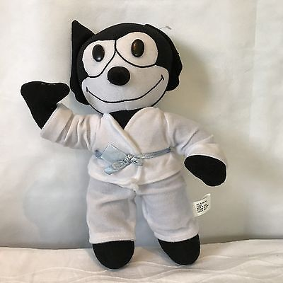 Retro Felix The Cat Stuffed Doll Toy Karate Outfit Collectible 12 Inch