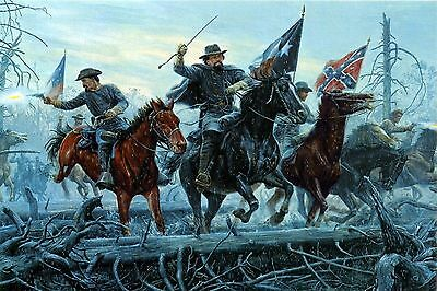 HD Canvas Print home decor wall art painting Fight at Fallen Timbers 20 H359