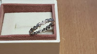 Pandora Sparkling Heart Stacking Ring. Sterling Silver S925 ALE