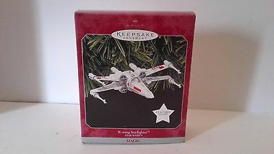 Hallmark Keepsake Ornament 1998 Star Wars X-Wing Starfighter fighter magic light