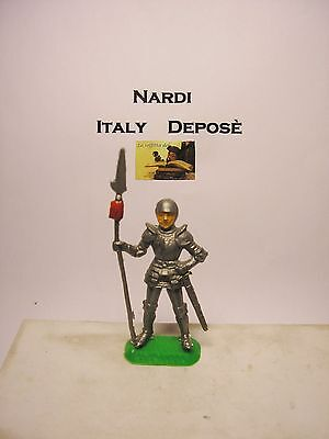 Soldatino Toy Soldier Nardi Italy Deposè Medievale Swoppet plastica cm 6,5