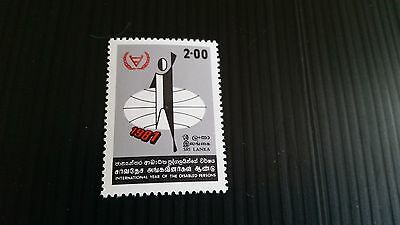 Sri Lanka 1981 Sg 735 International Year For Disabled Persons Mnh