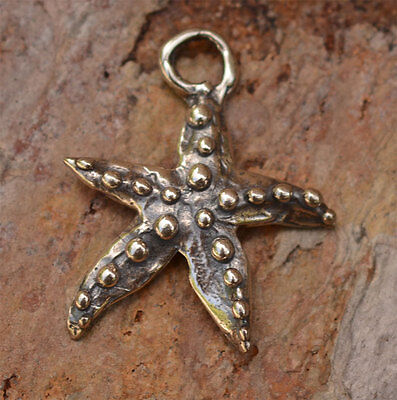 Rustic Artisan Star Fish in Sterling Silver