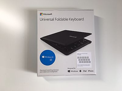 Microsoft - Universal Wireless Foldable Keyboard for Mobile Devices - Black