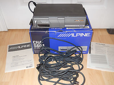 Alpine Electronics Cha-S604 6 Cd Changer In Original Box With Paperwork Used