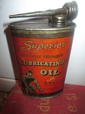 Vtg Castrol Oil Can Rare Bicycle Tin Litho 1920S/30S