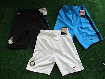 Job Lot of Nike Inter Milan Childrens Football Shorts BNWT Age 12-13 Years