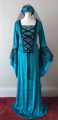 New Renaissance Medieval Princess Queen Maid Marion Fancy dress Costume 12 Book