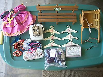 MUFFY VANDERBEAR Lot w/ Take a Hike Bench Horse Cart Outfits Lantern Easter Tin