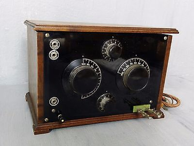 Crystal Radio With License - Made In Sweden - Year 1939