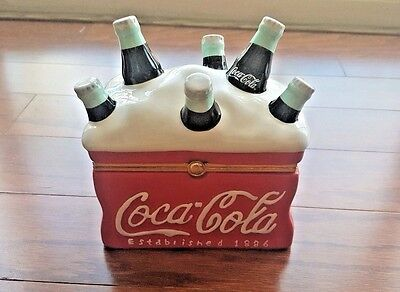 Coca Cola Collectible Ceramic Hinged Cooler Box 2001