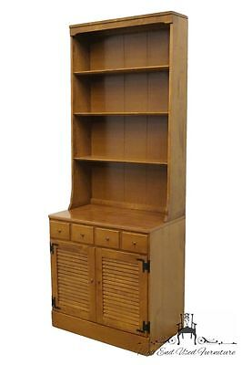 ETHAN ALLEN Heirloom Nutmeg Maple CRP 30? Shutter Cabinet w/ Bookcase