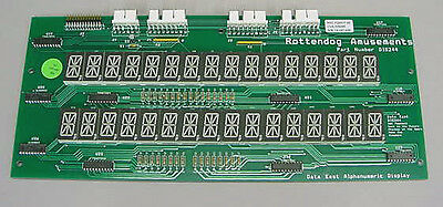 Brand New DIS244 Dual 16 Digit Display for Data East pinball machines Rottendog