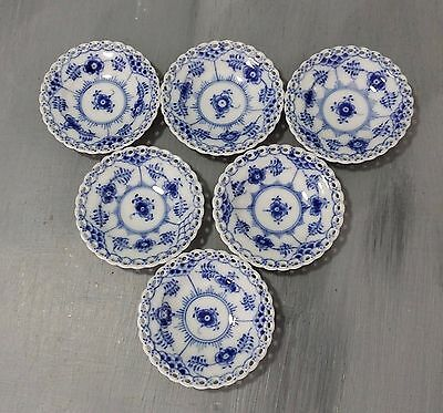 Very Small Plate Blue Fluted Full Lace Royal Copenhagen