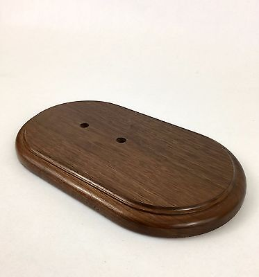 Finished Oval Wood Base Dark Wooden Display Stand - 10 inch long - Beautiful !