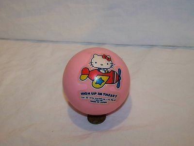 Vintage 1976 High in the Sky Sanrio Hello Kitty Soft Ball No 3 Pink Japan Made