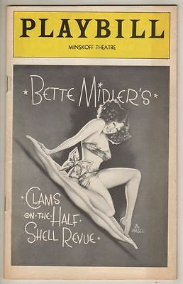 "Bette Midler ""Clams on the Half Shell Revue"" 1975 Playbill"