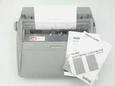 Brother SX-4000 Electronic Typewriter Word Correction/Spell Checker Tested Works