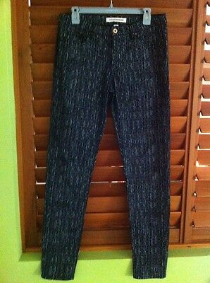 Country Road Designer Womens Black White Textured Striped Jeans Pants - Size 12