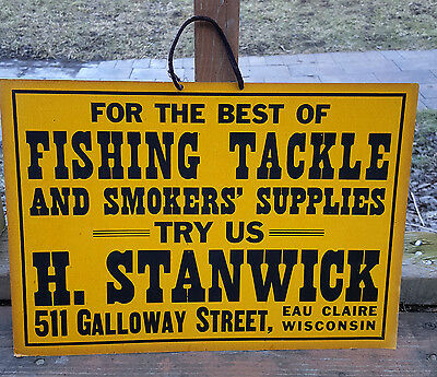 H. Stanwick Fishing Tackle and Tobacco Sign